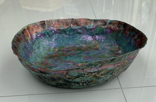 Large papier mache bowl 73
